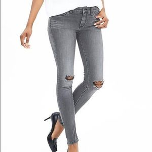 Banana Republic Destroyed Gray Skinny Jean